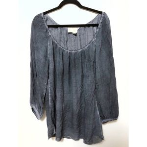 Anthropologie Fara stonewash peasant blouse boho